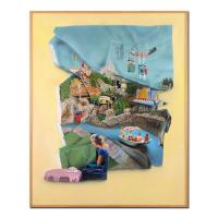 "Joshua Griffit Signed ""Disneyland"" 52x65 Custom Framed Original Acrylic Painting on Canvas"