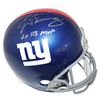 "Eli Manning Signed Giants Full Size Helmet Inscribed ""2x SB MVP"" (Steiner COA)"
