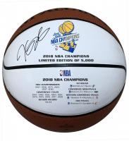 Kevin Durant Signed 2018 Championship Logo White Panel Basketball (Panini COA)