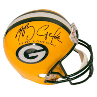 "Aaron Rodgers & Clay Matthews Signed Packers Full Size Helmet Inscribed ""XLV MVP"" & ""SBXLV Champs"" (Steiner COA) at PristineAuction.com"