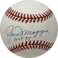 "Joe DiMaggio Signed OAL Baseball Inscribed ""HOF 55"" (PSA Hologram)"
