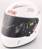 Full-Size Simpson Helmet Signed by (10) NASCAR Superstars with Dale Earnhardt Jr., Joey Logano, Kevin Harvick, Kyle Busch, Kyle Larson, Ryan Blaney (Dale Jr. Hologram & PA COA)