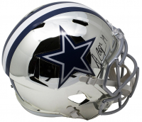 Amari Cooper Signed Cowboys Full-Size Chrome Speed Helmet (JSA COA) at PristineAuction.com
