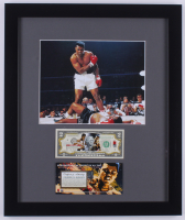 Muhammad Ali 16x19 Custom Framed Photo Display With Colorized U.S. Bank Note