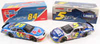 Lot of (2) Kyle Busch LE 1:24 Scale Die Cast Cars with (1) #5 Lowe's 2004 Monte Carlo & (1) #84 CarQuest 2004 Monte Carlo
