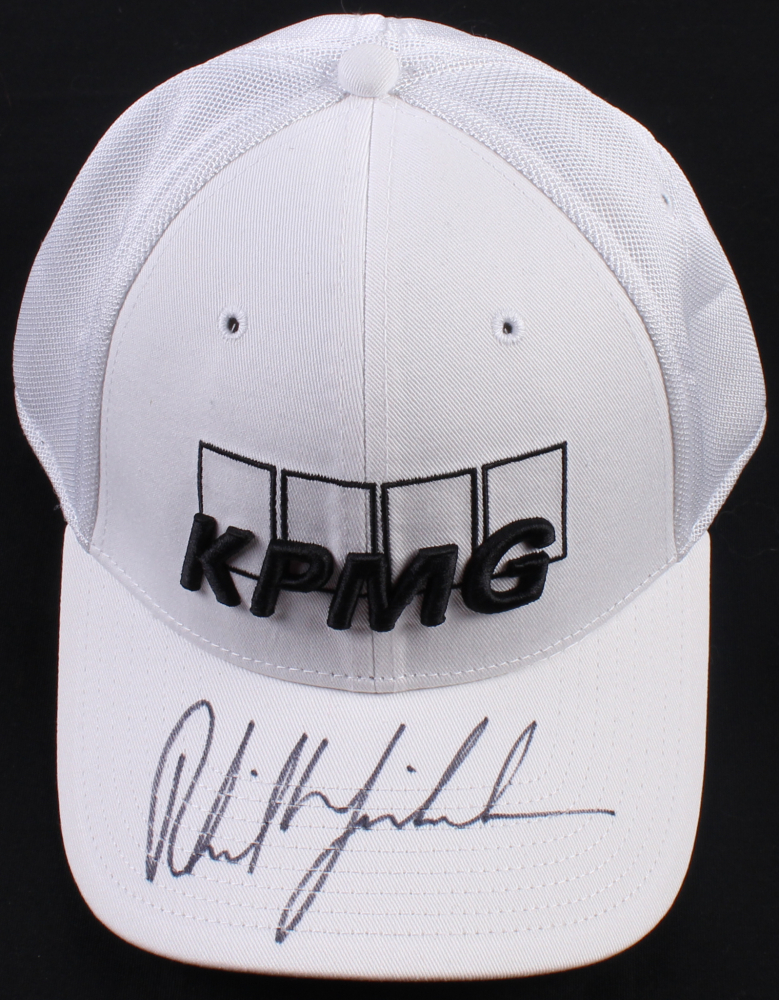 Phil Mickelson Signed KPMG Fitted Hat (JSA COA) at PristineAuction.com 6f97d833f80