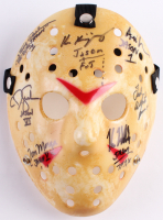 "Jason ""Friday the 13th"" Hockey Mask Signed By (7) with Kane Hodder, Tom Morga, Ted White, Ari Lehman with Multiple Inscriptions (JSA LOA)"