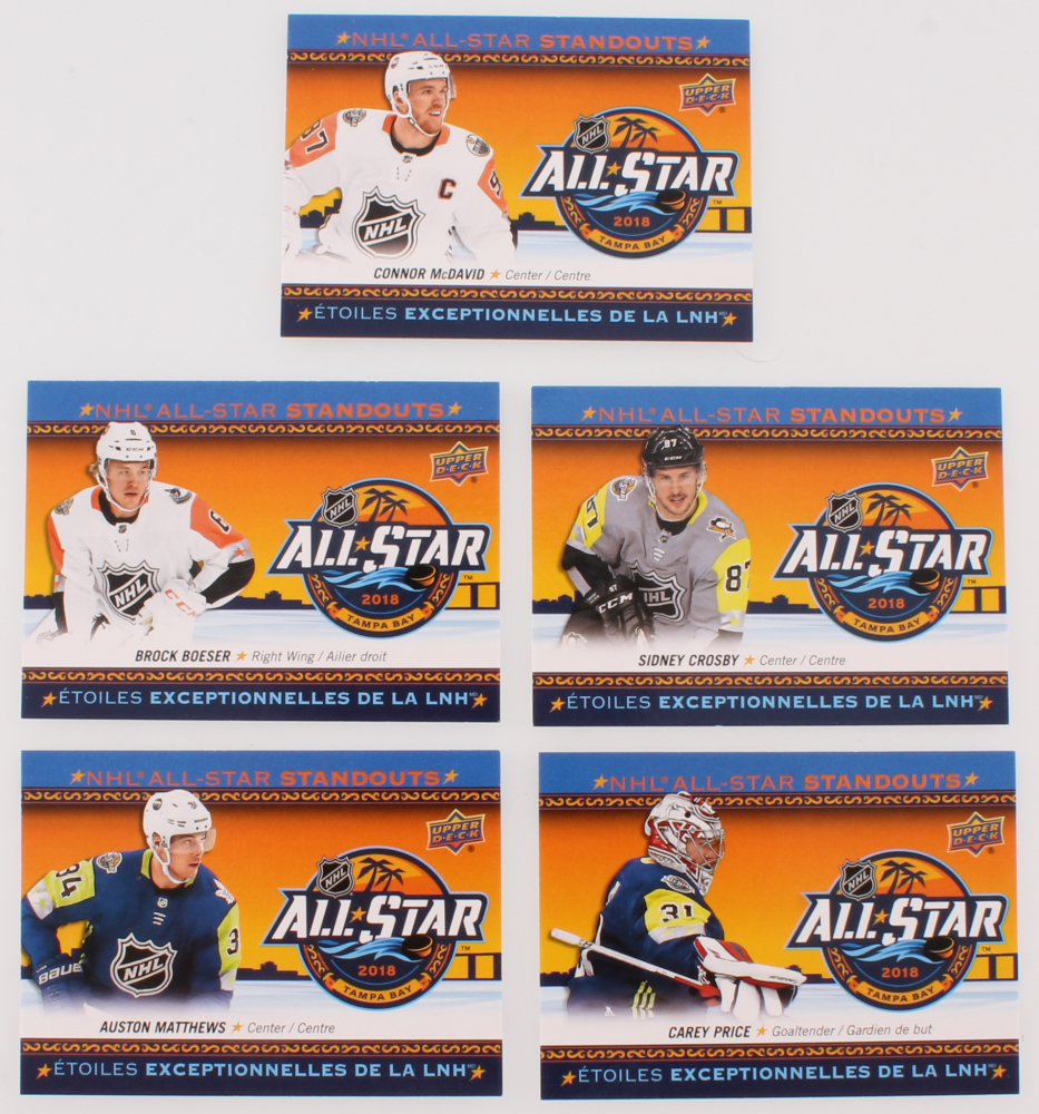 Lot of (5) 2018-19 Upper Deck Tim Hortons NHL All Star Standouts Hockey  Cards with  AS1 Connor McDavid d9439b7e4