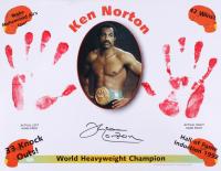 Ken Norton Signed 17x22 Lithograph with Original Handprints (SOP COA)