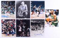 "Lot of (7) Celtics 8x10 Signed Photos with Charlie Scott, Sam Jones, Gene Guarilia, Jo Jo White Inscribed ""HOF 2018"" & ""4 Rings"" (SOP LOA)"