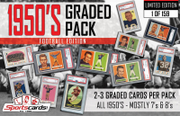 """1950's Graded Pack–Football Set Break Edition"" Mystery Box - (2) PSA Graded Cards Per Pack! at PristineAuction.com"