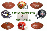 Schwartz Sports 2-Pt Conversion Full Size Football / Mini Helmet Signed Mystery Box - Series 2 (Limited to 75) (Pristine Exclusive Edition)