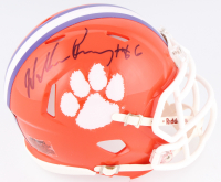 William Perry Signed Clemson Tigers Mini Speed Helmet (Schwartz COA) at PristineAuction.com
