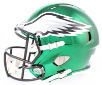 Brian Dawkins Signed Eagles Full-Size Chrome Speed Helmet (JSA COA) at PristineAuction.com