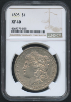 1893 $1 Morgan Silver Dollar (NGC XF 40)