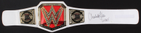 "Charlotte Flair Signed Women's WWE Championship Belt Inscribed ""WOOO!"" (JSA COA)"