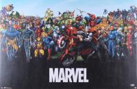Stan Lee Signed 10.25x34 Marvel Poster Print (Beckett COA)