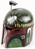 """Jeremy Bulloch Signed """"Star Wars"""" Boba Fett Full-Size Deluxe Edition Star Wars Helmet Inscribed """"Boba Fett"""" (Beckett COA)"""