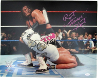 "Bret Hart Signed WWE 16x20 Photo Inscribed ""Hitman"" (JSA COA)"