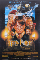 "Daniel Radcliffe Signed 27x40 ""Harry Potter and the Sorcerer's Stone"" Poster Print (Beckett COA)"