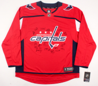 2017-18 Stanley Cup Champion Capitals Jersey Team-Signed by (21) with Alex Ovechkin, T.J. Oshie, Nicklaus Backstrom, Braden Holtby (JSA ALOA)