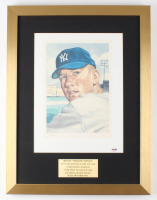 Mickey Mantle Signed LE Yankees 16x21 Custom Framed Lithograph (PSA LOA) at PristineAuction.com