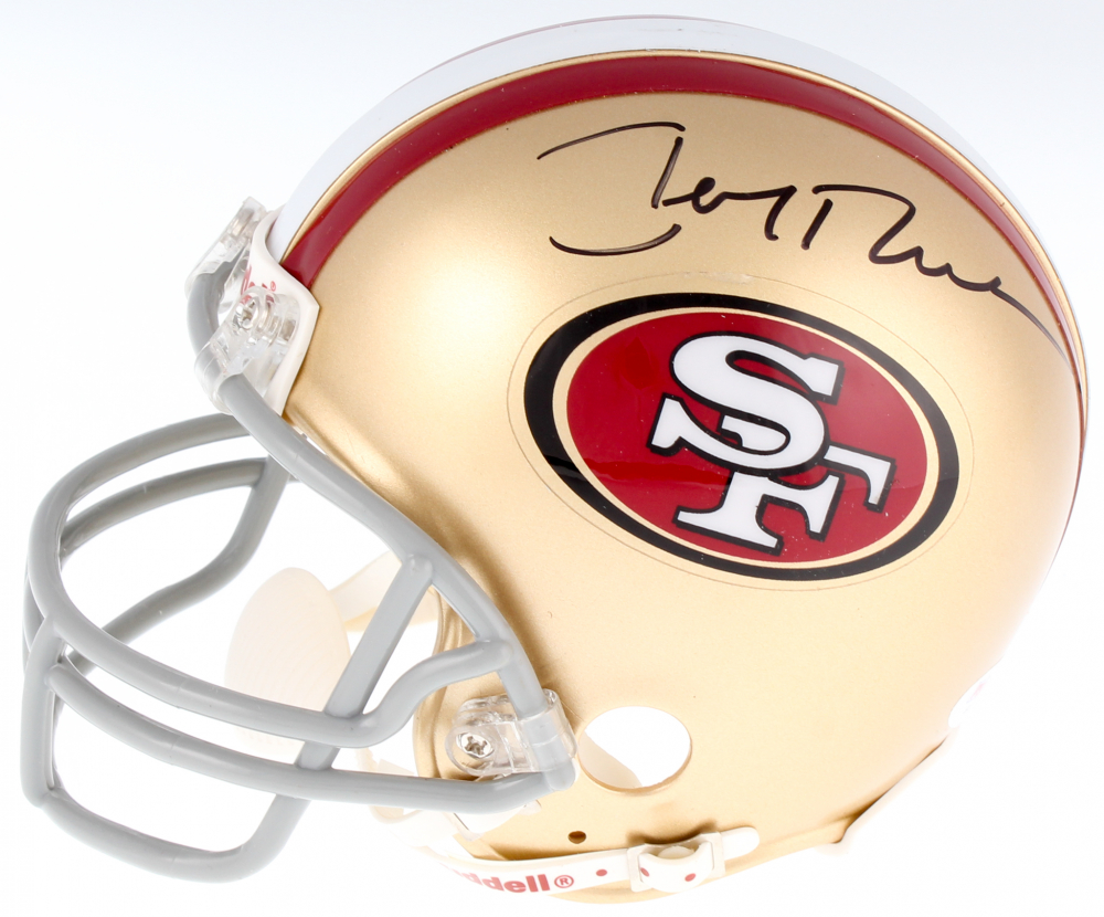 c1c6fdff9 Jerry Rice Signed 49ers Mini Helmet (PSA COA) at PristineAuction.com