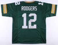 "Aaron Rodgers Signed Jersey Inscribed ""XLV MVP"" (Steiner Hologram) at PristineAuction.com"