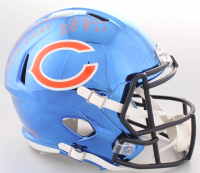 "Devin Hester Signed LE Bears Full-Size Chrome Speed Helmet Inscribed ""20 Career TD Returns"" & ""KR/PR G.O.A.T."" (JSA COA)"