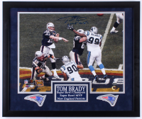 "Tom Brady Signed LE Patriots 22x26 Custom Framed Photo Display Inscribed ""Game Over"" with (2) Patriots Patches (TriStar Hologram)"