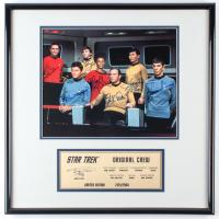 "Star Trek ""Original Crew"" LE 16x17 Custom Framed Photo Display Signed by (7) with William Shatner, Leonard Nimoy, DeForest Kelley, George Takei"