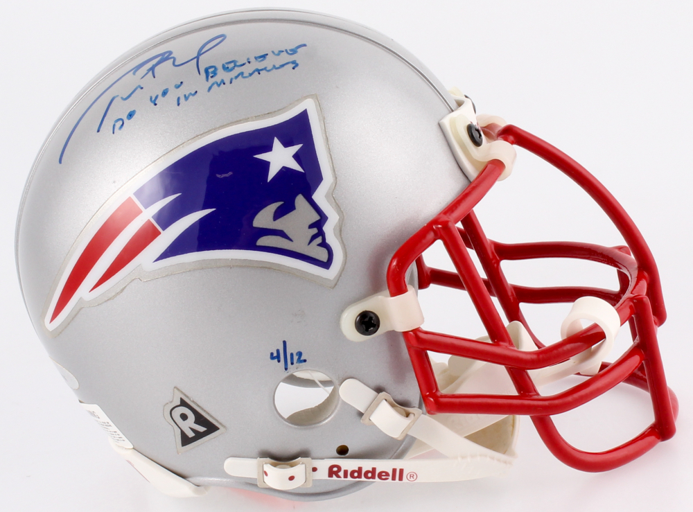 ed3288ca3 Tom Brady Signed LE Patriots Mini Helmet Inscribed