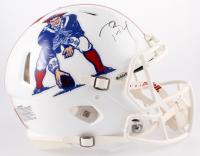 Tom Brady Signed Patriots Throwback Full-Size Authentic On-Field Speed Helmet (Steiner COA & TriStar Hologram)