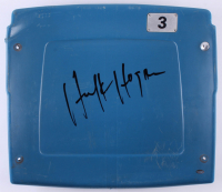 Hulk Hogan Signed Silverdome Stadium Blue #3 Game-Used Seatback (Schwartz COA)