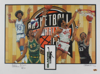 "Artis Gilmore Signed LE Basketball Hall of Fame 18x24 Lithograph Inscribed ""8/12/11 HOF"" (MAB Hologram)"