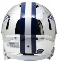 Emmitt Smith Signed Cowboys Full-Size Chrome Speed Helmet (Beckett & Prova COA) at PristineAuction.com