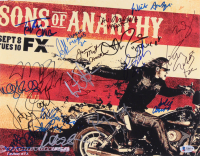 """""""Sons of Anarchy"""" 11x14 Photo Signed by (19) with Charlie Hunnam, Katey Sagal, Tommy Flanagan, Kim Coates, Ron Perlman with Multiple Inscriptions (Beckett LOA)"""