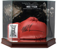Mike Tyson Signed Everlast Boxing Glove with High Quality Display Case (JSA COA)