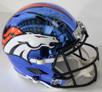 Peyton Manning Signed Denver Broncos Chrome Full-Size Speed Helmet (Fanatics Hologram)