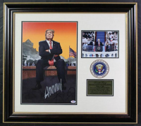 "Donald Trump Signed Signed ""Gun Control"" 26x29 Custom Framed Photo Display (PSA COA)"