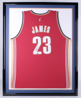 LeBron James Signed Cavaliers 34x42 Custom Framed Jersey (UDA COA) at PristineAuction.com