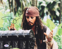 """Johnny Depp Signed """"Pirates of the Caribbean: Dead Man's Chest"""" 11x14 Photo (PSA COA) at PristineAuction.com"""