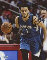 Tyus Jones Signed Timberwolves 8x10 Photo (Beckett COA)