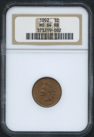 1892 1¢ Indian Head Penny (NGC MS 64 RB) at PristineAuction.com