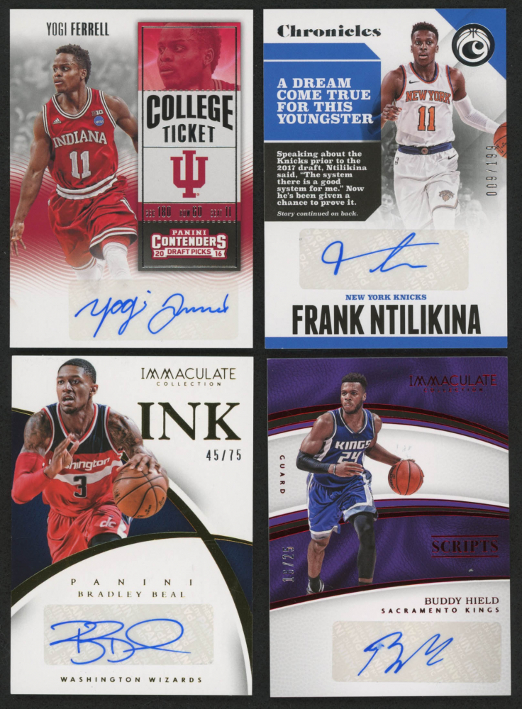 7bde52c1053c Lot of (4) Autograph Basketball Cards with 2014-15 Immaculate Collection  Ink