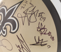 2018 Saints Full-Size Helmet Team-Signed by (25) with Drew Brees,  Tre'Quan Smith, Taysom Hill, Marcus Davenport, Sheldon Rankins, Manti Te'o (JSA ALOA) at PristineAuction.com