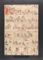 "1936 Original ""Silly Symphony"" Disney Comic Strip 18x25 Custom Matted Display"