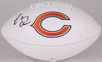 Chevy Chase Signed Bears Logo Football (Beckett COA)