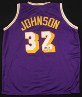 Magic Johnson Signed Lakers Jersey (PSA COA)