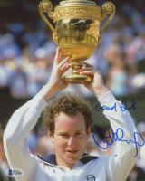 "John McEnroe Signed ""Wimbledon Champion"" 8x10 Photo Inscribed ""Good Luck!"" (Beckett COA) at PristineAuction.com"